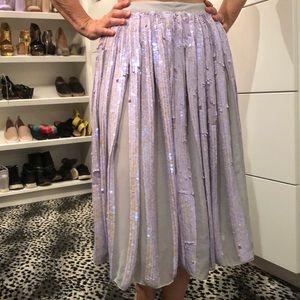 Asos Lavender Iridescent Sequin Skirt